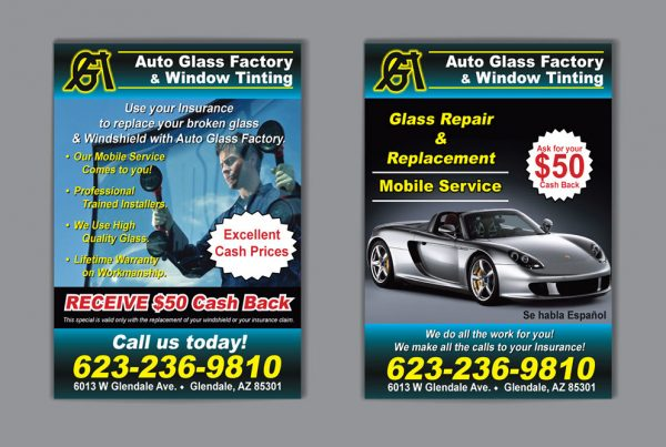 Postcard Design – Auto Glass Factory