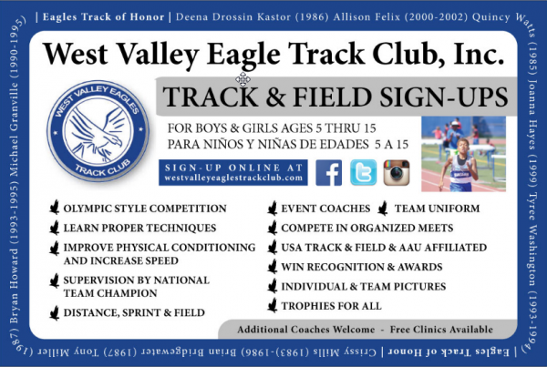 Postcard Design – West Valley Eagle Track Club