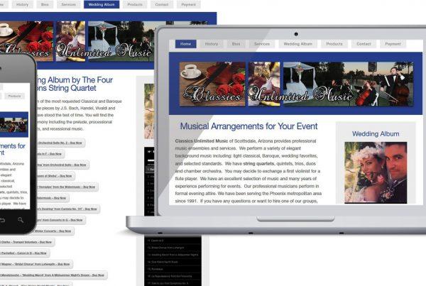Web Design – Classics Unlimited Music